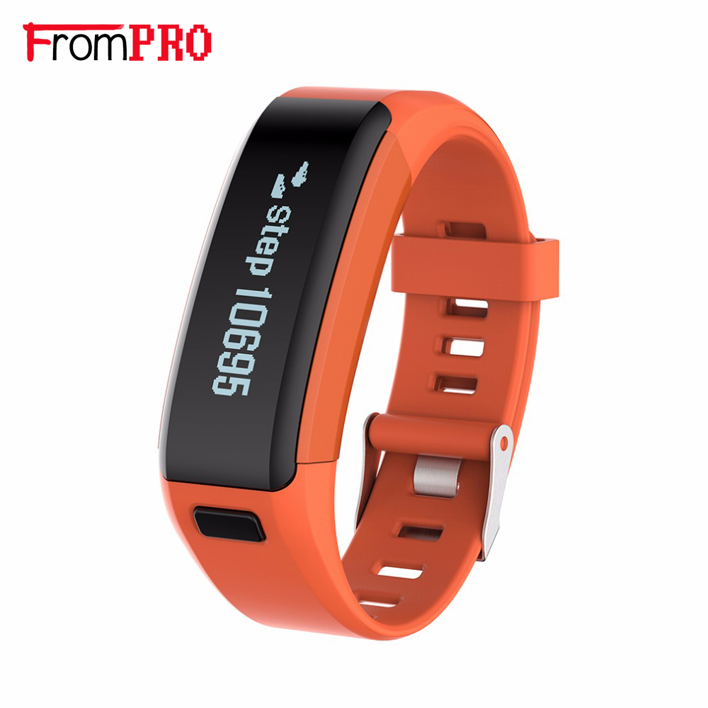 FROMPRO Smart Bracelet F1 Heart Rate Monitor Wristband Health Fitness Track Pedometer Bluetooth 4 0 Smart