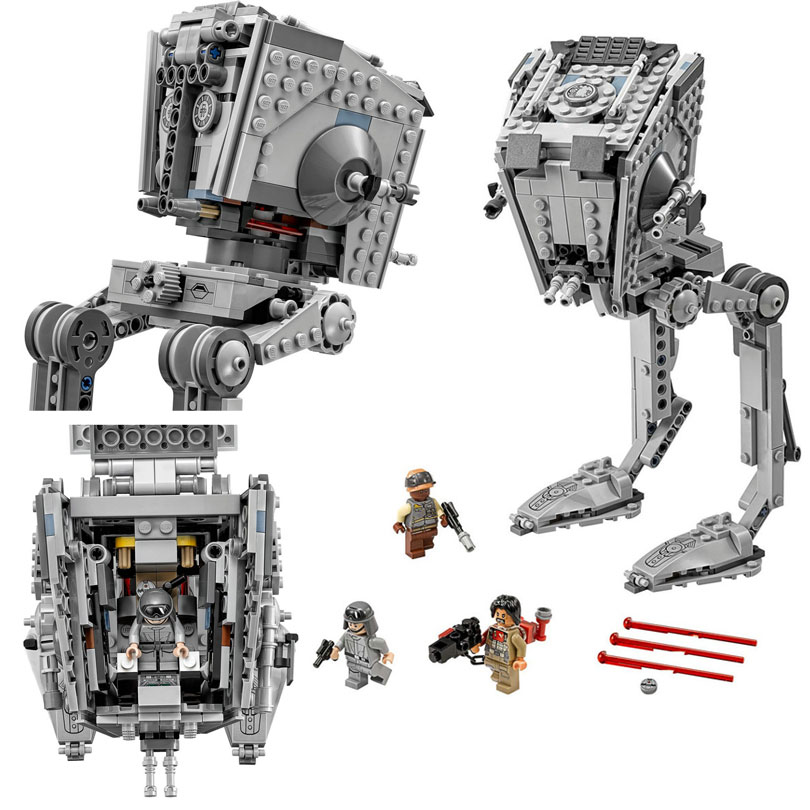 Lepin 05066 471Pcs The Rogue One Imperial AT-ST Walker Building Blocks Bricks Toys Kids Gift Compatible 75153 w 29 at at walker style wall sticker