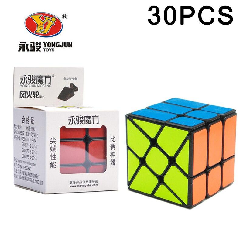 30 PCS Nouvelle Arrivée YJ YongJun Magic Speed cube 5.7 CM Étrange-forme Puzzle cube Classique Jouets Neo Cube noir Cubo magico Cadeaux