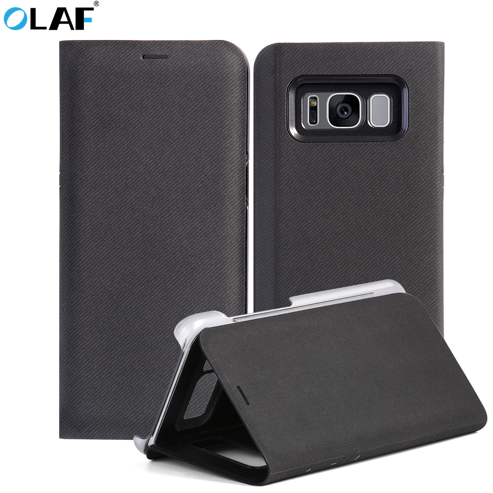 Luxury Leather Stand Flip Case for iPhone X 10 Wallet Cover Case for Samsung Galaxy S8 Case Pouch Mobile Phone Case Hoesje Coque