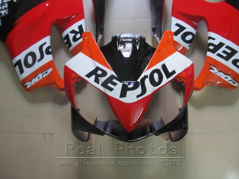 Литьевая форма ABS пластик обтекатель комплект для Honda CBR600 F4I 04 05 06 07 оранжевые черные Обтекатели набор 2004 2007 CBR600 F4I BN21 - 4