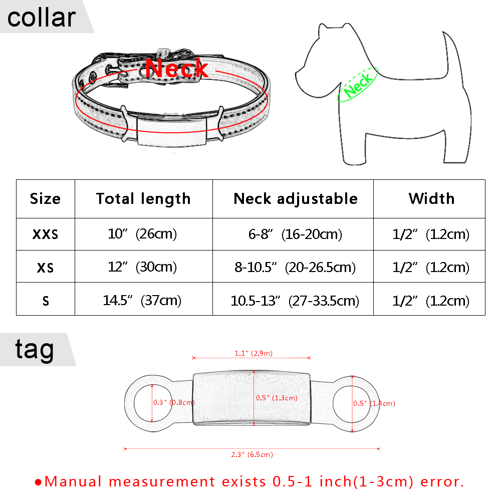 Soft Cat Collar And Tag Set Cat Dog Collars Personalized Padded Id Collars Puppy Pet For Small Medium Cats Free Bell Xxs #6