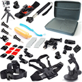 For Gopro Tripods Accessories 20 In 1 Kit Palo stick Chest Head Wrist Belt Strap Bag Case Suction Cup Bobber For Sj4000