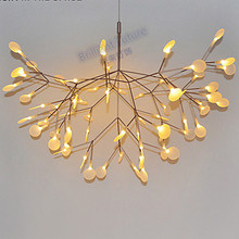 Creative Pendant Light Modern Northern Europe Tree Leaf Lamps Lightings
