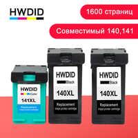 HWDID 140 141XL Substituição Do Cartucho De Tinta Recarregado para hp/hp 140 141 para hp Photosmart 140 C4283 C4583 C4483 deskjet C5283 D4263