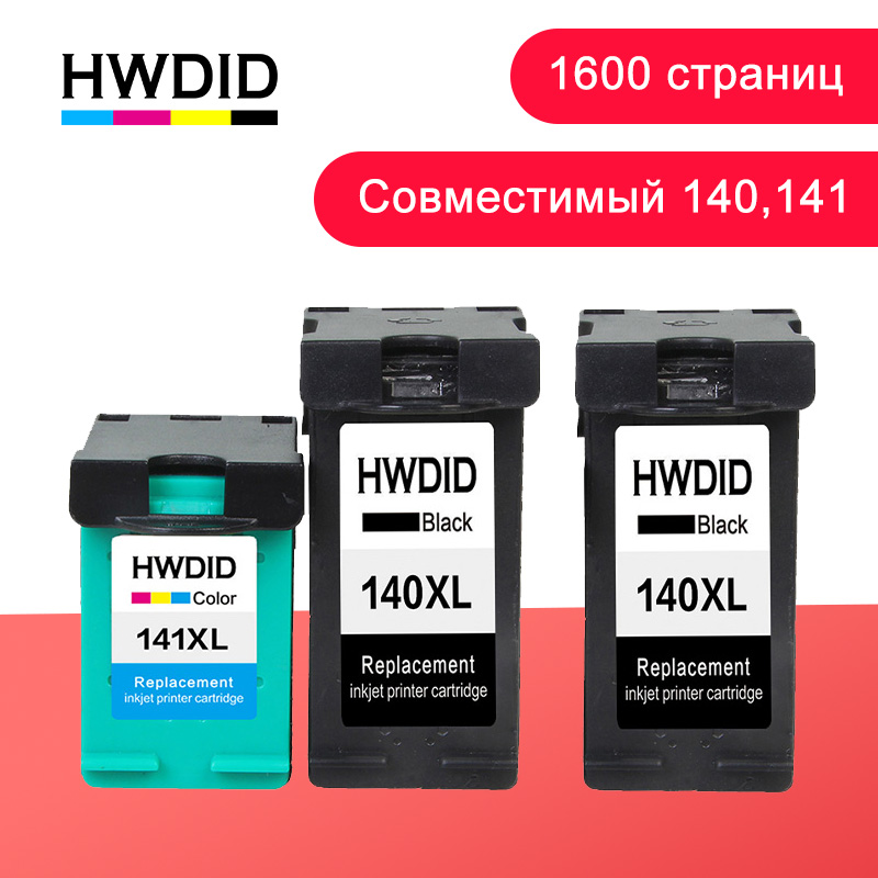 HWDID <font><b>140</b></font> 141XL Refilled Ink Cartridge Replacement for <font><b>hp</b></font>/<font><b>HP</b></font> <font><b>140</b></font> <font><b>141</b></font> for hp140 Photosmart C4283 C4583 C4483 C5283 Deskjet D4263 image