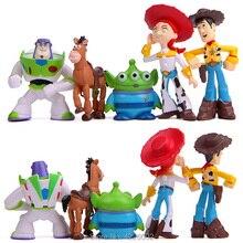 5 unids lote juguete historia 3 Woody Buzz Lightyear Jessie Mini PVC figuras  de acción blanco juguete extranjeros figuras niños . 1a844728b69