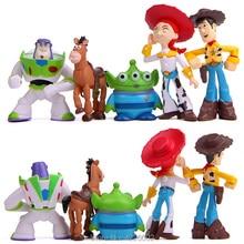 5 unids lote juguete historia 3 Woody Buzz Lightyear Jessie Mini PVC figuras  de acción blanco juguete extranjeros figuras niños . 053cd680e9a