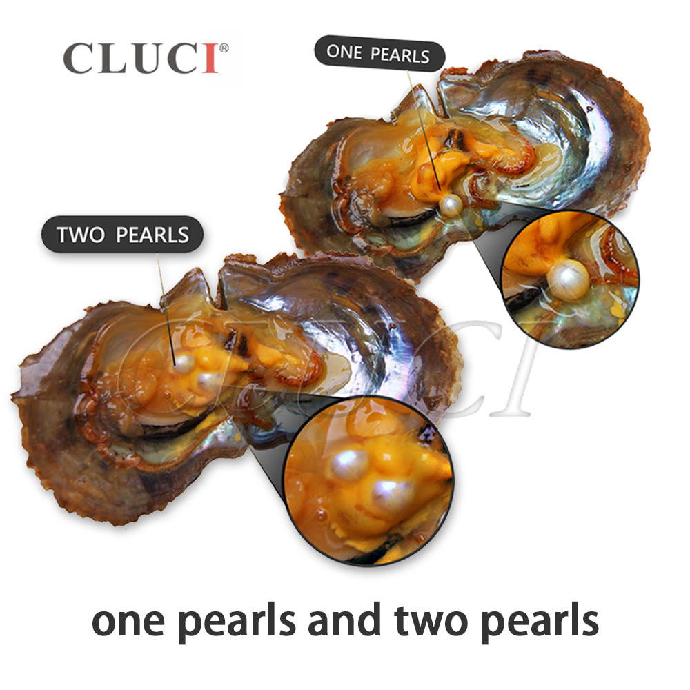 CLUCI 90pcs 6-8mm Mix 20 Colors Natural Round Akoya Pearls Bead in Oyster Jewelry Vacuum Packed Oysters with Pearls