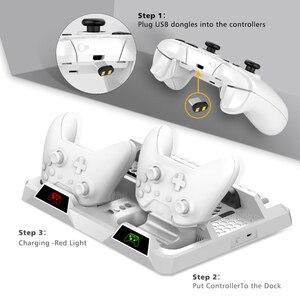 Image 2 - OIVO Dual Bộ Điều Khiển Đế Sạc Dành Cho Xbox ONE Làm Mát Chân Đứng Trò Chơi Lưu Trữ Sạc dành cho Xbox ONE/S/X Tay Cầm