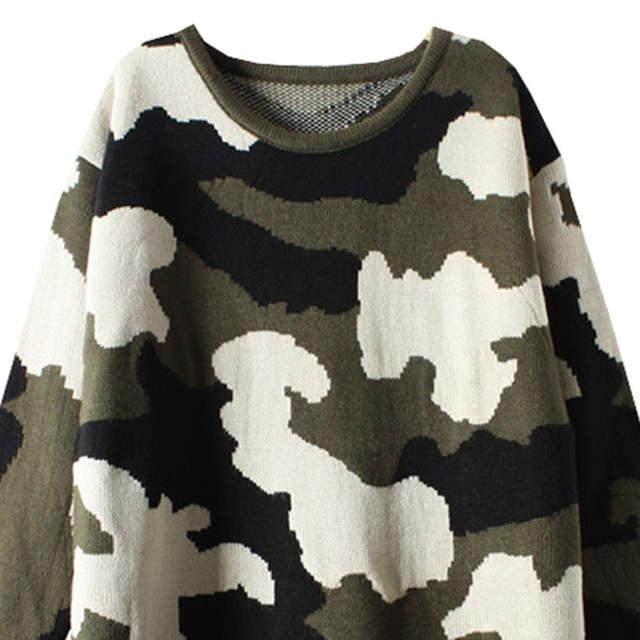 placeholder Lace girl 2017 nueva mujeres de la vendimia suéter del estilo  militar de camuflaje sweaters mujer 001f6d3e00ad