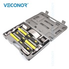 7PCS Auto Body Dent Repair Hammer Dolly Tool Kit Panel Beater Sheet With Grey Plastic Case