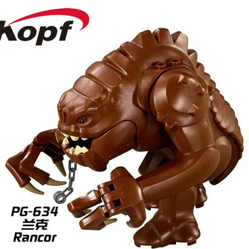 10Pcs PG634 Super Heroes Wars Rancor Dewback Limited Jabba The Hut Building Blocks Bricks DIY Toys