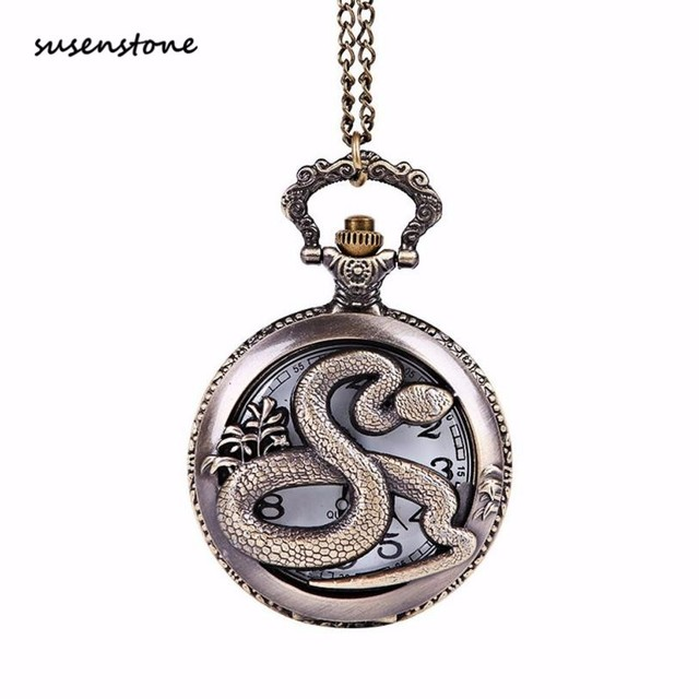 Susenstone Men Pocket Watch New Fashion Chain The Greatest Pocket Watch Necklace