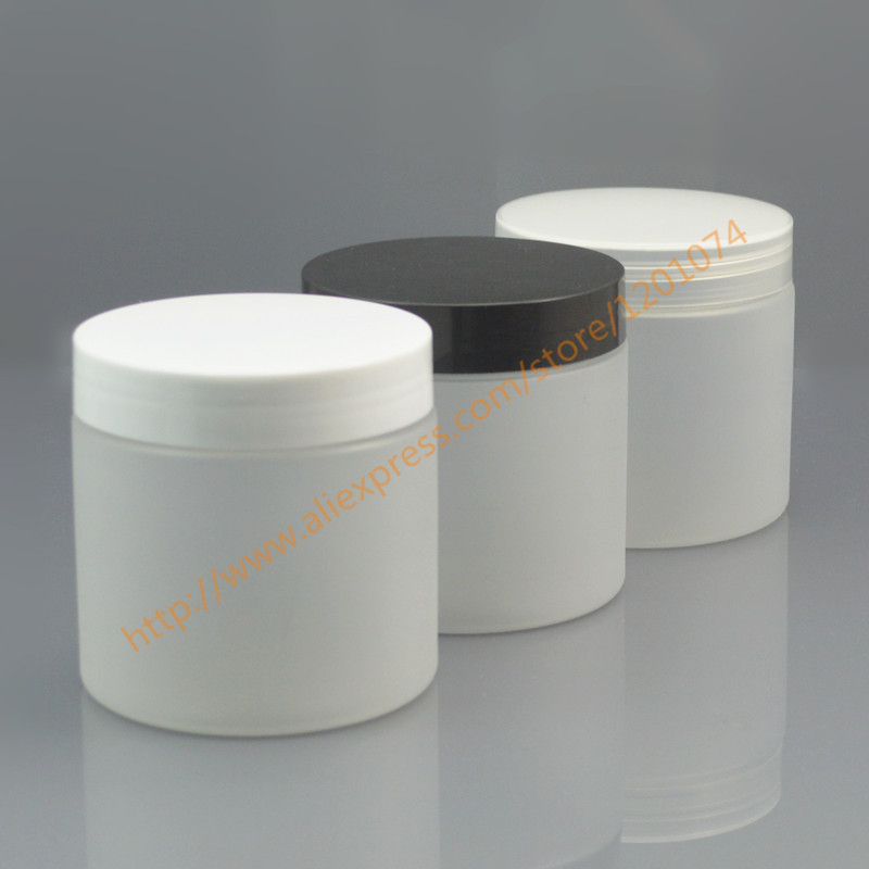 200ml clear Frosting Jar PET Jar with white black clear PP Cap 200g Mask Container Plastic