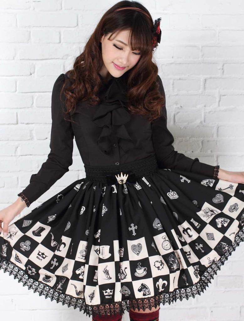 Γοτθική ελαστική φούστα για - Γυναικείος ρουχισμός - Φωτογραφία 6