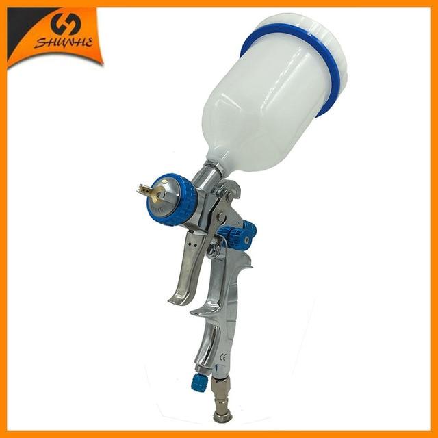 SAT1215 HVLP alimentación por gravedad inoxidable boquilla hvlp pistola de pintura