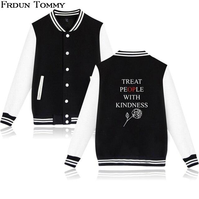 70e0de76565 Frdun Tommy Harry Styles Treat People With Kindness Baseball Jackets Keep  Warm Women Men Fashion
