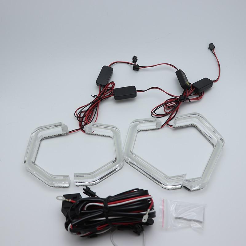 High quality 12V White Crystal Angel Eyes Kits ICONIC M4 Style day ...