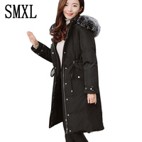 Ultra Warm Down Jacket Fashion Autumn Winter Jacket Women Wadded Jackets Parka Slim Fur Collar Hooded