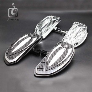 Image 2 - Motorcycle Accessories Chrome and Black Color Driver Floorboards Pedal For Harley Sportster 883 1200 Touring Dyna & Softail