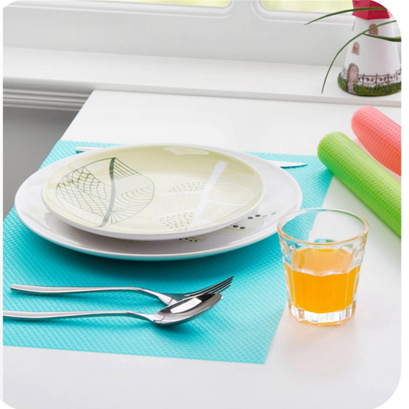 Image 3 - 4pcs/set Refrigerator Cabinet Pad Antibacterial Antifouling  Mildew Moisture Tailorable Pad Refrigerator Mats Fridge WaterproofMats