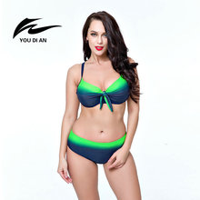 Hot Sale Plus Size Bikini 2017 New Sexy Swimwear Women Swimsuit Large Size Bikini Set Maillot De Bain Push Up Bra Swimsuit