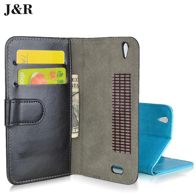 Hot Sale PU Leather Case For Philips Xenium i908 Cover Flip With Stand Design Card Slots Phone Back Cover
