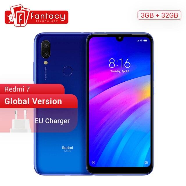 "Global Version Xiaomi Redmi 7 3GB 32GB Snapdragon 632 Octa Core 12MP Dual Camera 6.26"" Screen Smartphone 4000mAh Battery OTA"