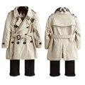 Marca de moda de doble cubierta de niños y niñas de algodón niños invierno cálido abrigo Outwear a prueba de viento cazadora caliente para 3 - 7 T