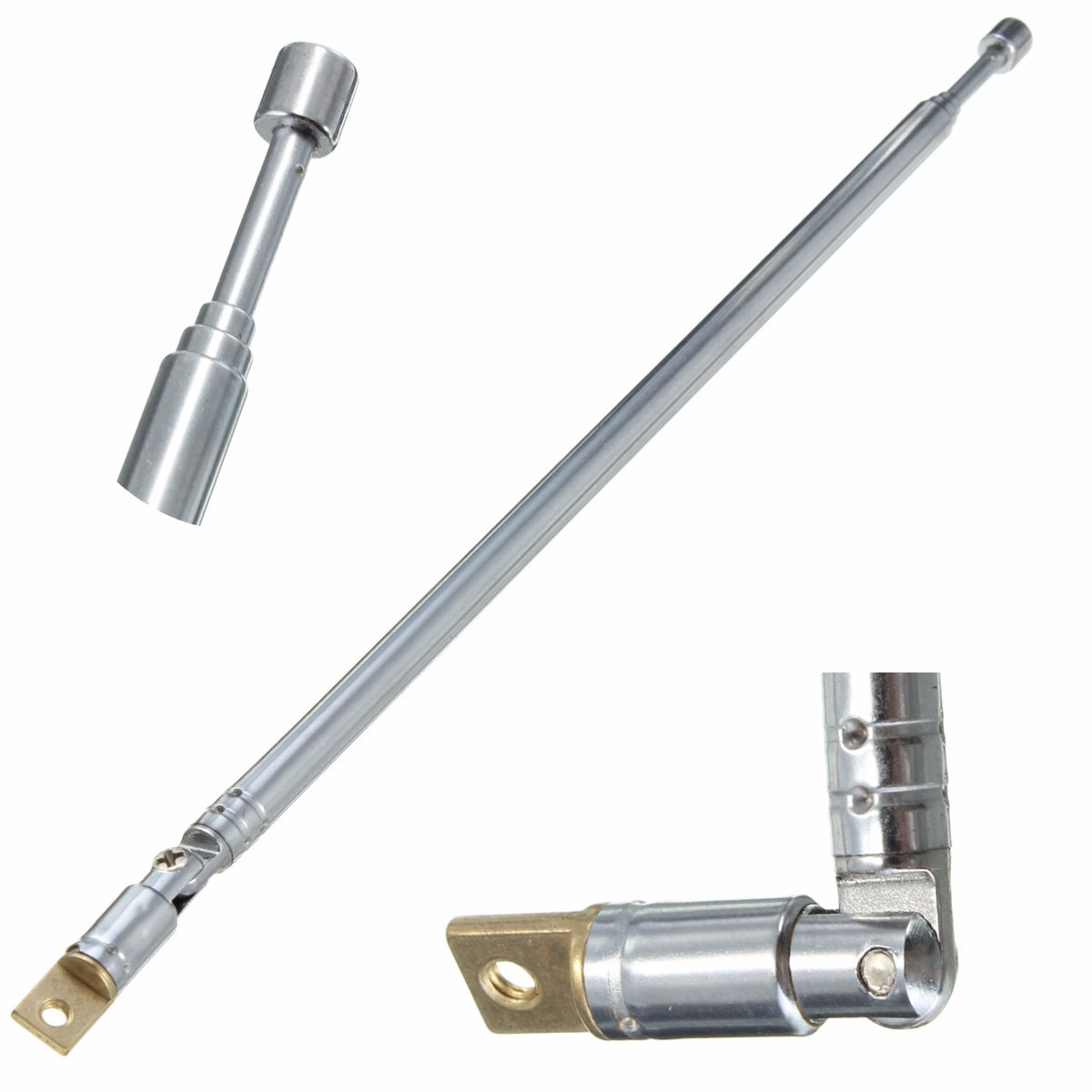 цена на New Arrival Best Promotion Durable 310991702355 AM FM Radio Telescopic Antenna Replacement 63cm Length 4 Sections