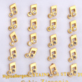 New Music Note Earrings Gold Plated Stud Earrings Stainless Steel Earrings for Women Jewelry