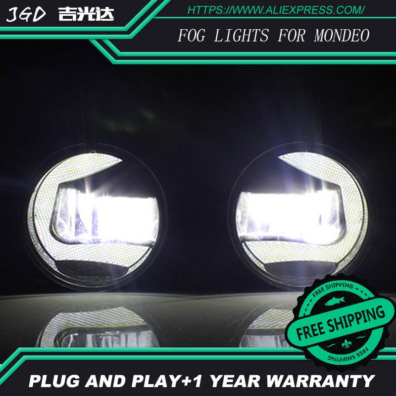 For Ford Mondeo 2006-2013 LR2 Car styling front bumper LED fog Lights high brightness fog lamps 1set