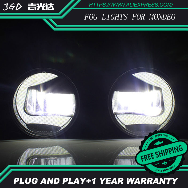 For Ford Mondeo 2006-2013 LR2 Car styling front bumper LED fog Lights high brightness fog lamps 1set led front fog lights for renault koleos hy 2008 2013 2014 2015 car styling bumper high brightness drl driving fog lamps 1set