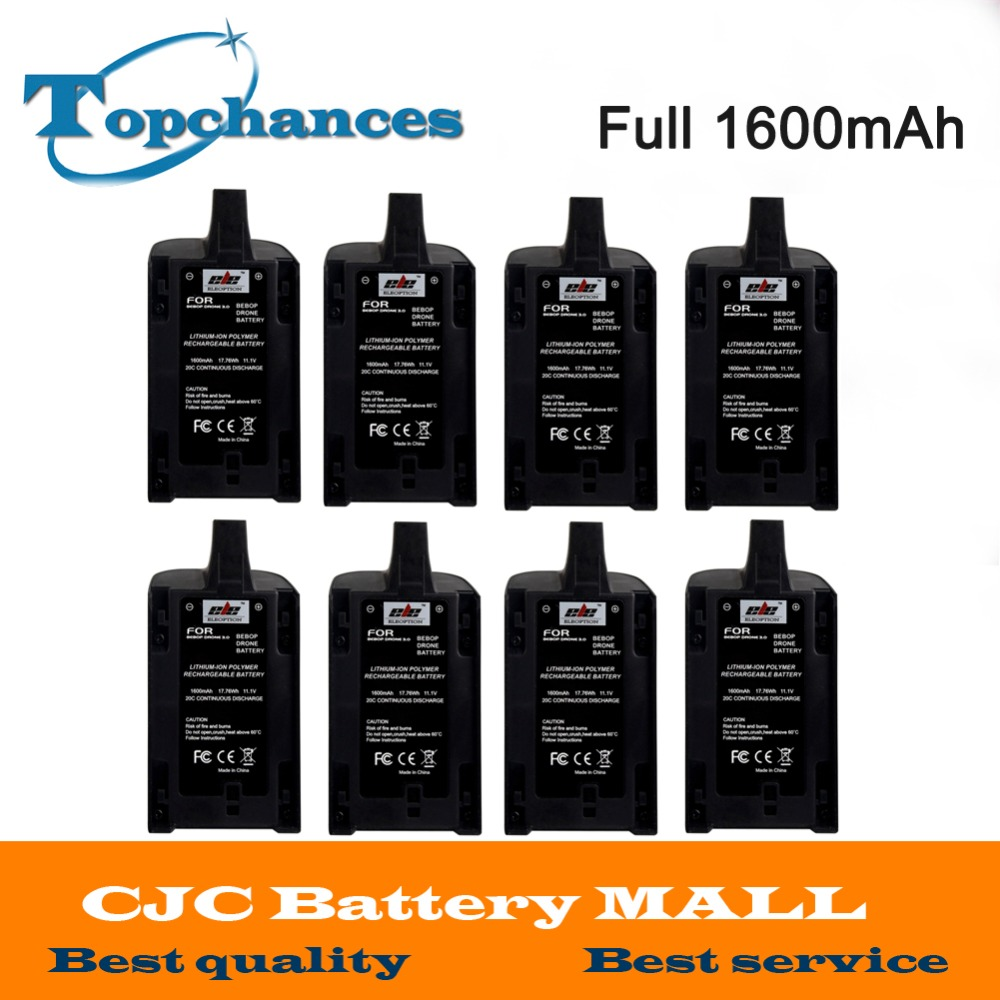 8PCS Newest High Capacity Full 1600mAh 11.1V Powerful Li