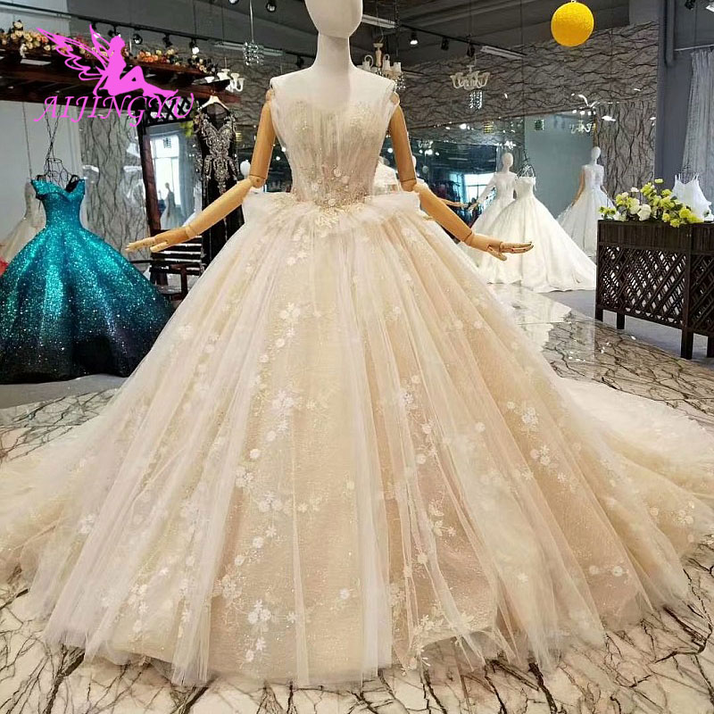 Most Beautiful Short Wedding Dresses: AIJINGYU Navy Wedding Gown Expensive Gowns Royal Queen The