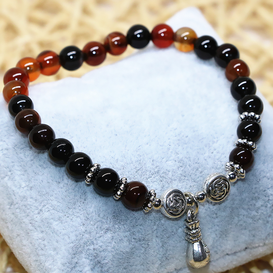6mm natural dream onyx agat stone carnelian women strand bracelets round beads high quality elegant jewelry making 7.5inch B1997