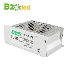 Алюминиевый Secure качество простая операция AC 220 В 50 ~ 60 Гц к DC 12 В 25 Вт 2A освещения Трансформатор светодиодные полосы источника питания Drive(China (Mainland))