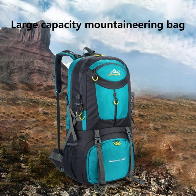d45199fffbc US $32.75 32% OFF|2018 New Large Capacity Outdoor Backpack Unisex Travel  Multi purpose Climbing Hiking Rucksacks BS88-in Backpacks from Luggage &  Bags ...