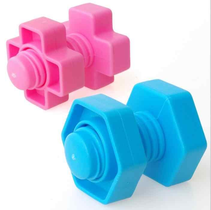 1/10/20/30 set vis blocs de construction en plastique insert blocs écrou forme jouets pour enfants jouets éducatifs échelle modèles WYQ