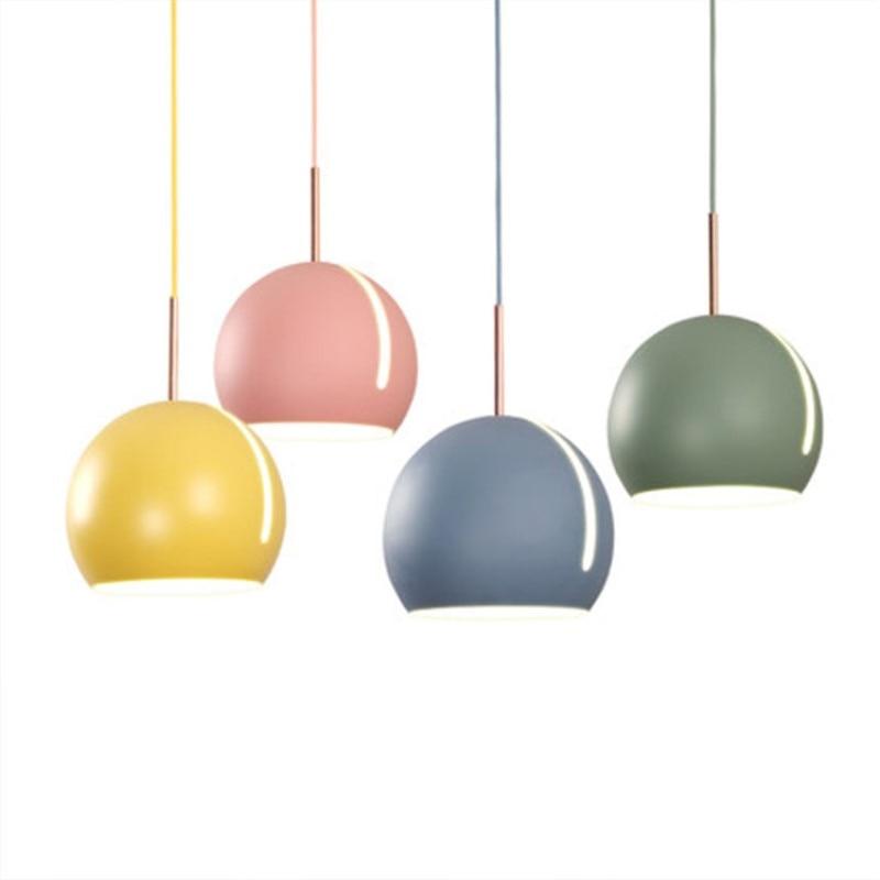 купить Nordic Creative Restaurant Pendant Light Art Multicolor Rotatable Designer Hanging Lamp Tilting Sphere Study Coffee Shop Light недорого