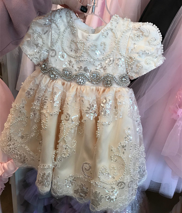 New Luxury Baby Infant Girls Baptism Christening Gown White/Ivory Lace Applique With Bonnet Size 3 6 9 15 18 24 month 2016 new baby infant christening dress lace applique white ivory boys girls baptism gown with bonnet with belt