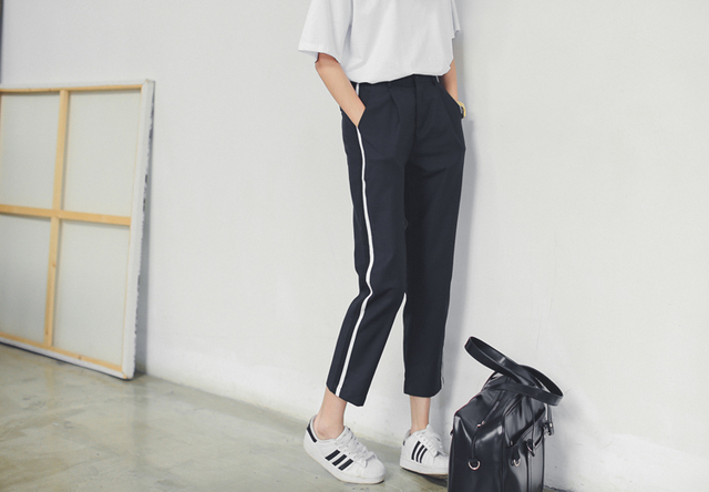 Europe casual pantyhose summer was thin waist harem women pants Port wind wide leg pants loose trousers female