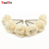 12pcs Shank 2 35mm Double Cotton Thread Polishing Brushes Dremel Accessories Rotary Abrasive Tools Power Tools