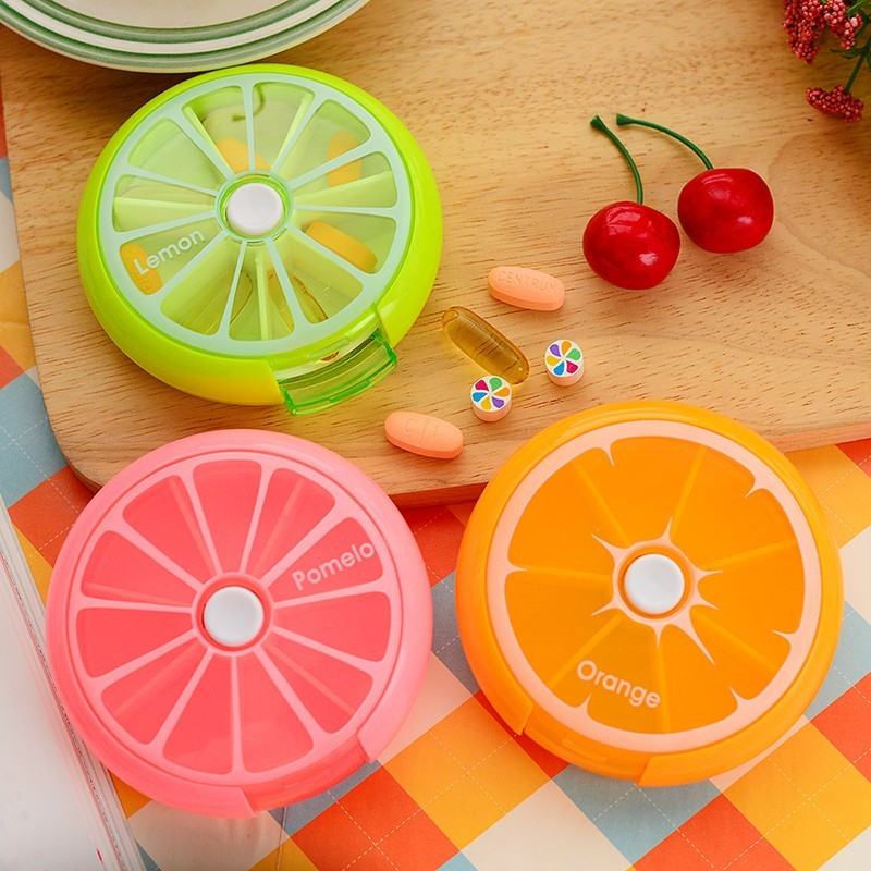 New-Portable-fruit-style-7-grid-seal-rotation-Storage-Cases-Jewelry-candy-box-Storage-Box-Vitamin (2)