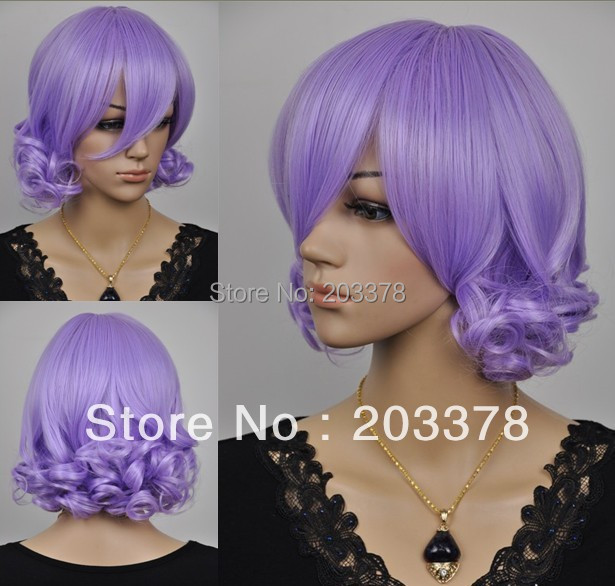 Beatiful Purple cosplay hair wig best selling hair high quality free shipping