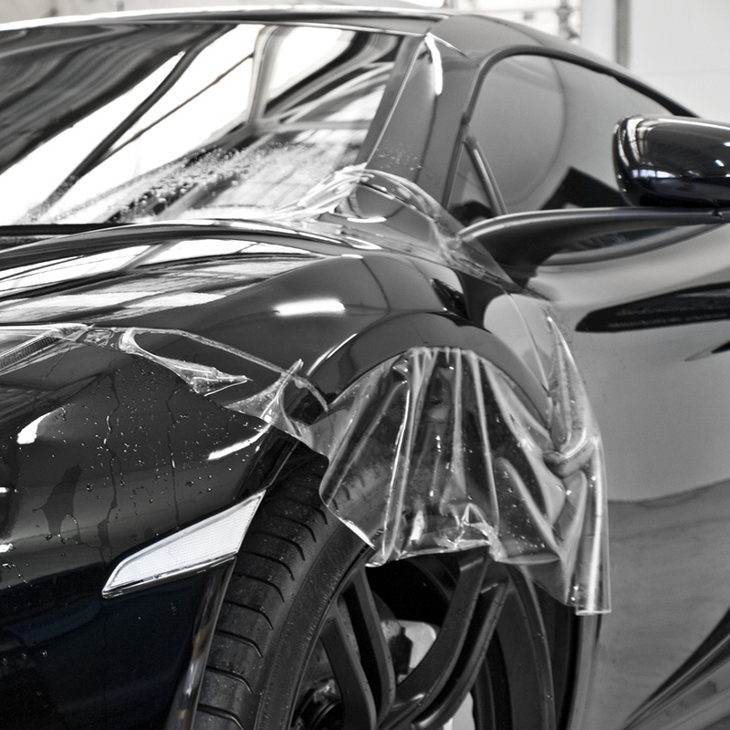 Transparent TPH Glossy Car Paint Protection Film PPF Clear Anti scratch Stickers Self Adhesive Car Body Wrap Film Foils 0.5x4