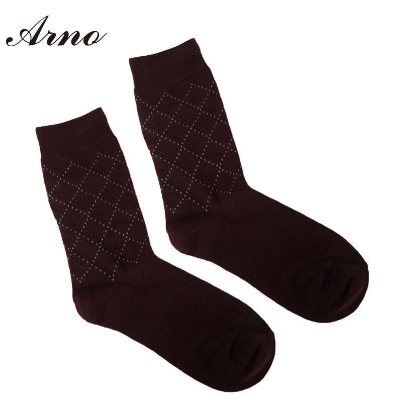 Arno Free Shipping Cotton Brand Men Socks Prismatic Designer Dress Socks 5 Pairs lot Gift Box LW5007 5C in Men 39 s Socks from Underwear amp Sleepwears