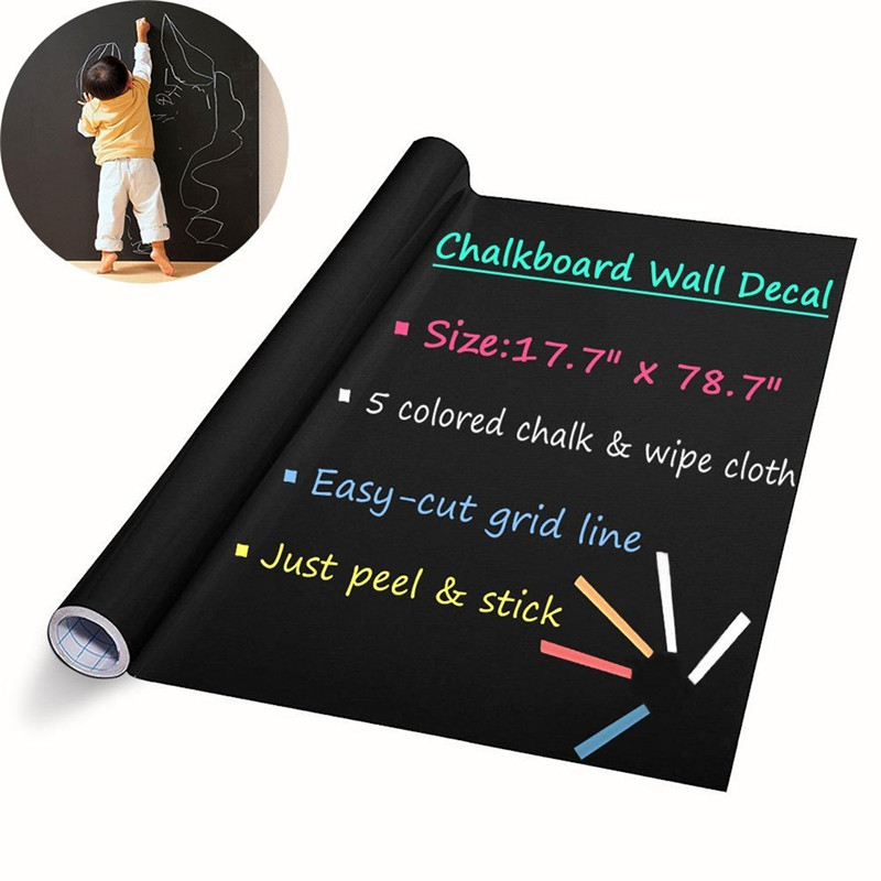 DIY Chalkboard Decals Removable Washable Blackboard Wall ...