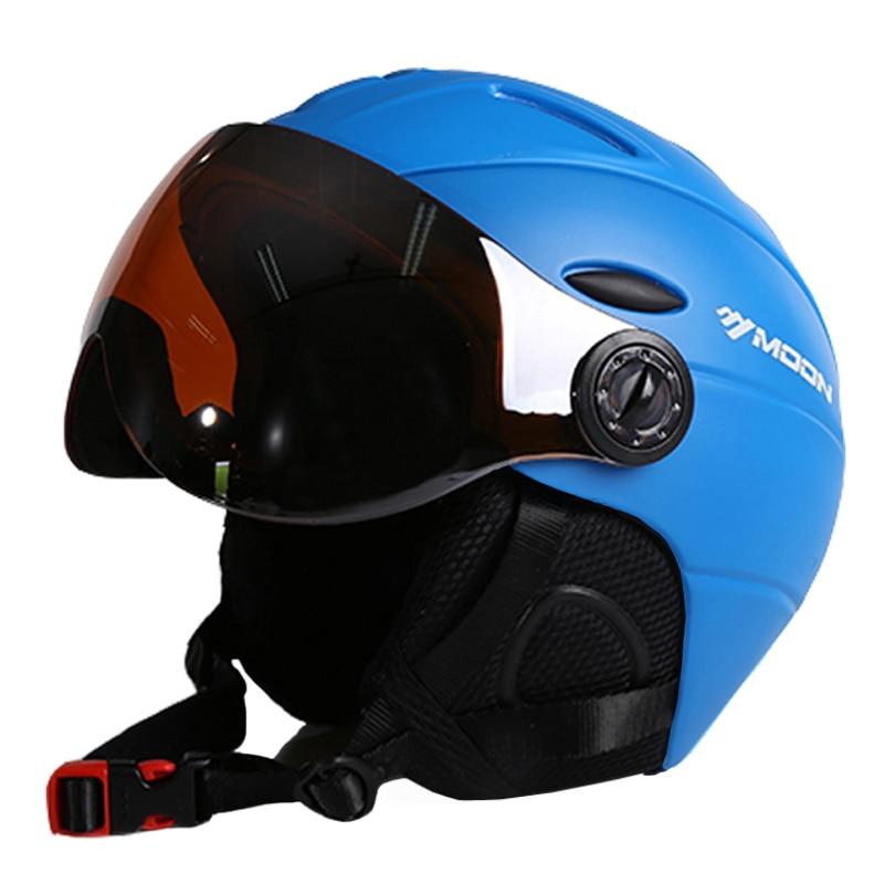 MOON Goggles лыжный шлем CE сертификация безопасный лыжный шлем с очками Катание на коньках скейтборд катание на лыжах сноуборд шлем PC + EPS - 3